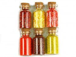 koraliki szklane rokail w butelce-mix14