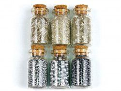 koraliki szklane rokail w butelce-mix17