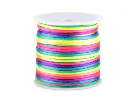 sznurek satynowy 2 mm 100m kolorowy
