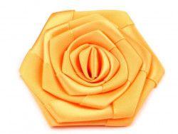 róża satynowa 7 cm żółta