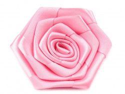 róża satynowa 7 cm różowa