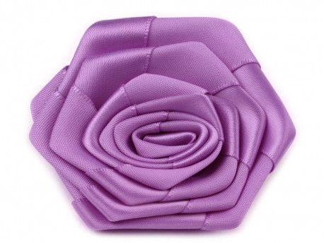 róża satynowa 7 cm fioletowa