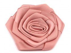 róża satynowa 7 cm brudny róż