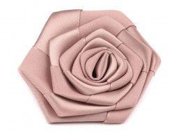 róża satynowa 7 cm różowo/beżowa