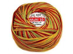 Kordonek MULTI 10 cieniow. kol. 205 żółty-zielony-czerwony
