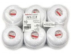 Kordonek MUZA 10 (30x6) 6szt biały 0400