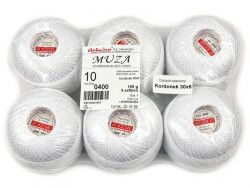 Kordonek MUZA 10 (30x6) 6szt biały ARIADNA