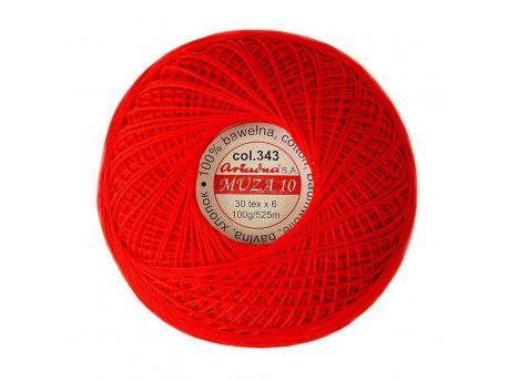 Kordonek MUZA 10 (30x6) kol.343 czerwony