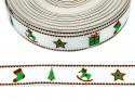 wstążka rypsowa świąteczna