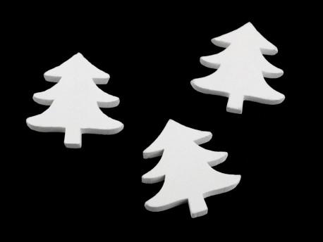 ozdoba drewniana choinka - 3 sztuki
