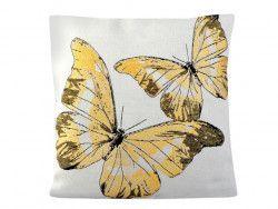 poszewka na poduszkę motyle żółte