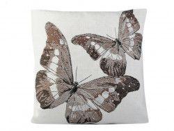 poszewka na poduszkę motyle brązowe