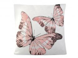poszewka na poduszkę motyle różowe