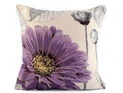 poszewka na poduszkę gerbera fioletowa
