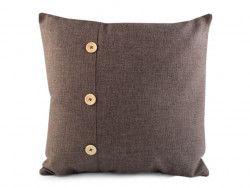 poszewka na poduszkę z guzikami brązowa