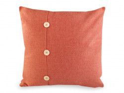 poszewka na poduszkę z guzikami pomarańczowa