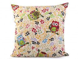 poszewka na poduszkę kolorowe sowy