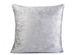 poszewka na poduszkę aksamitna srebrna