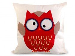 poszewka na poduszkę sowa czerwona