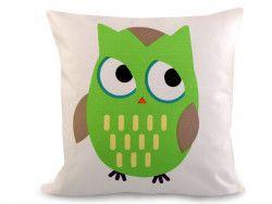 poszewka na poduszkę sowa zielona