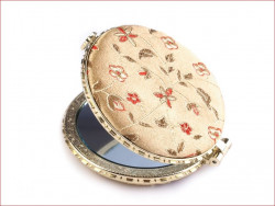 lusterko kieszonkowe z haftem beżowe