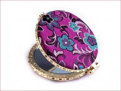 lusterko kieszonkowe z haftem purpurowe