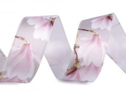 wstążka satynowa magnolie