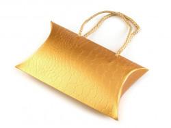 pudełeczko podarunkowe złote