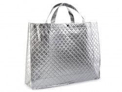 torba metaliczna duża srebrna