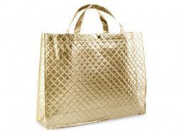 torba metaliczna duża złota