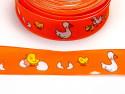 wstążka szyfonowa z drutem gąski pomarańczowa