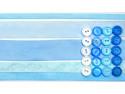 wstążki zestaw błękitny