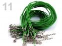 sznurek bawełniany wosk. zielony z zapięciem
