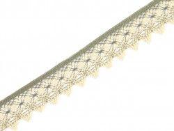 koronka bawełniana 46 mm naturalno-beżowa