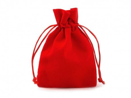woreczek aksamitny czerwony