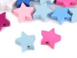 koraliki drewniane gwiazdy