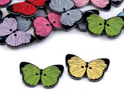 Guziczek dziecięcy motyl - 2 sztuki