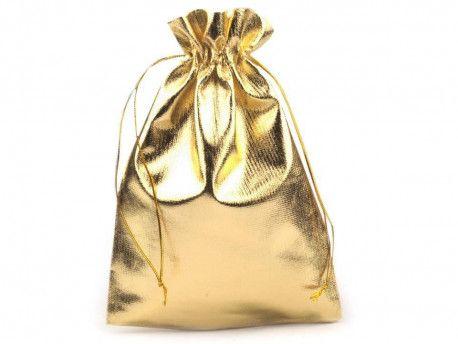 woreczek metalizowany lurex złoty