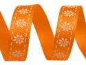 wstążka rypsowa stokrotki pomarańczowa