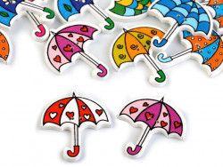 Guzik drewniany parasolka- 3 sztuki