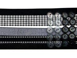 wstążki zestaw czarny