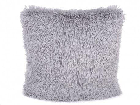 poszewka na poduszkę włochata szara