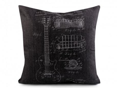 poszewka na poduszkę gitara