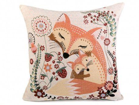 poszewka na poduszkę lisy 2