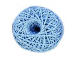 sznurek bawełniany 3mm -niebieski-motek