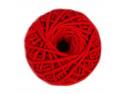 sznurek bawełniany 3mm czerwony motek