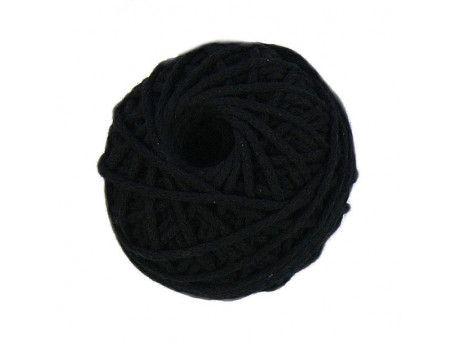 sznurek bawełniany 3mm -czarny