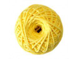 sznurek bawełniany 3mm cytrynowy motek