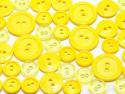 guziki mix 3 wielkości 40szt. żółty