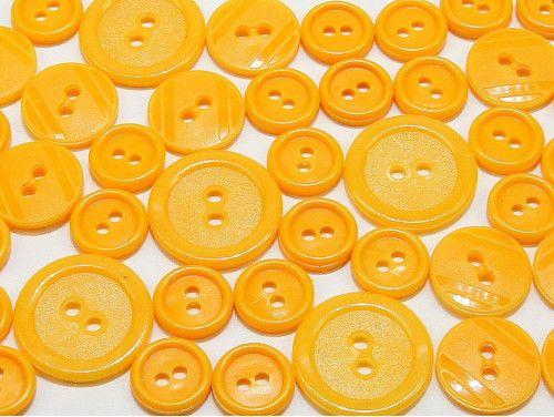 guziki mix 3 wielkości 40szt. ciemny żółty